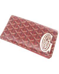 Goyard | Leather Purse (with Coin Purse) Logo Motif | Lyst