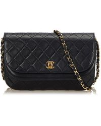 Chanel - Matelasse Half Moon Flap Bag - Lyst