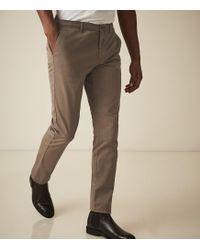 Reiss - Fielder - Garment Dyed Slim Fit Chinos - Lyst