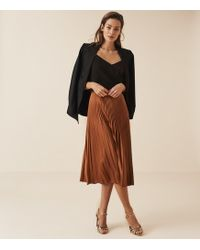 8db808ce4 Reiss - Isidora - Pleated Midi Skirt - Lyst