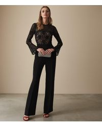 e71f4b160f84 Reiss - Marion - Lace Embellished Jumpsuit - Lyst