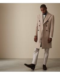 Reiss - Carlton - Double Breasted Overcoat - Lyst