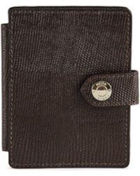 Reiss Cashin Print - Textured Leather Card Holder - Brown