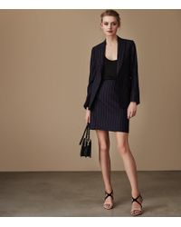 Reiss - Piper Tailored Pinstripe Skirt - Lyst