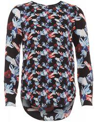 Armani Jeans - Blouse, Black Gem Print Top - Lyst