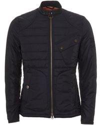 Barbour - International Lee Quilted Jacket, Steve Mcqueen Navy Blue Coat - Lyst