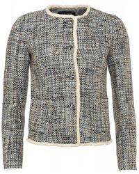 Armani Jeans - Jacket, Tweed Boucle Blazer - Lyst