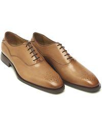 Oliver Sweeney - Sabatini Oxford Diamond Toe Tan Shoes - Lyst