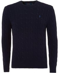 Ralph Lauren - Crew Neck Jumper Navy - Lyst