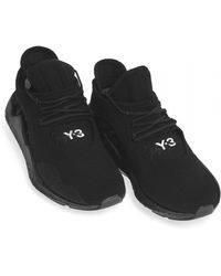 Y-3 - Saikou Knitted Textile Trainers, Black Trainers - Lyst