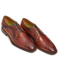Oliver Sweeney - Bonbora Derby Shoe, Hand Antiqued Dark Tan Shoe - Lyst
