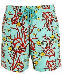 Vilebrequin - Moorea Swim Shorts, Lagoon Blue Coral Fish Swimming Trunks - Lyst
