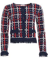 I Blues - Alloro Jacket, Shorter Length Navy Red White Cardigan Jacket - Lyst