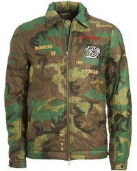 Maharishi - World Map Jacket, Vintage Military Surplus Woodland Green Coat - Lyst