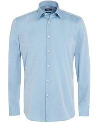 BOSS - Jenno Shirt, Aqua Blue Slim Fit Shirt - Lyst