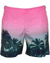 Orlebar Brown - Bulldog Palms Aplenty Swim Shorts, Pink Swimming Trunks - Lyst