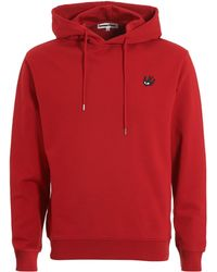 McQ - Plain Sweat, Overhead Amp Red Hoodie - Lyst