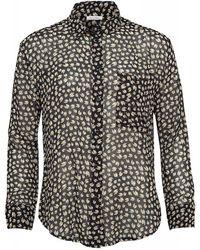 American Vintage - Titusville Silk Shirt, Sheer Black Daisy Blouse - Lyst