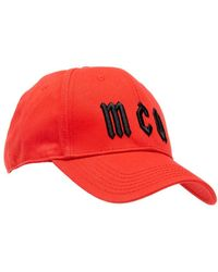 McQ - Logo Baseball Hat, Red Cotton Cap - Lyst