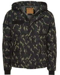 True Religion - Hooded Jacket, Down Filled Camo Coat - Lyst