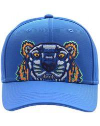 KENZO - Tiger Canvas Baseball Cap, Cobalt Blue Hat - Lyst