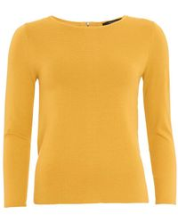 Weekend by Maxmara - Tacito Jumper, Amber Yellow Sweater - Lyst