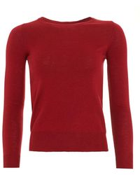I Blues - Bacon Boat Neck Bordeaux Red Jumper - Lyst