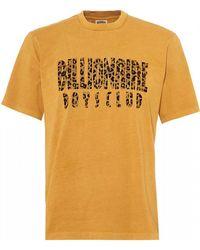 BBCICECREAM - Leopard Fill Logo T-shirt, Golden Yellow Tee - Lyst