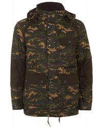 Barbour - X White Mountaineering Brantmoto Olive Camo Wax Jacket - Lyst