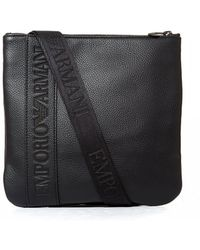 3e3824f3105d Emporio Armani - Business Flat Messenger Bag Men s Pouch In Black - Lyst