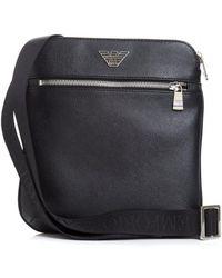 73f124c0dd Armani Jeans Black Tonal Repeat Logo Stash Shoulder Bag in Black for ...