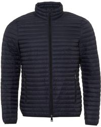 Emporio Armani - Lightweight Quilted Jacket, Techno Fabric Navy Blue Coat - Lyst