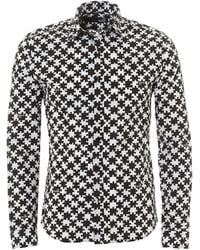 Love Moschino - All-over Jigsaw Print Slim Fit Shirt - Lyst