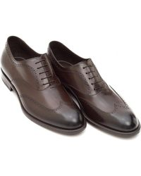 BOSS Black | Manhattan Oxford Shoes, Smooth Leather Brown Brogues | Lyst