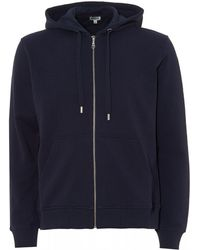 KENZO - Hooded Logo Zip Hoodie, Ink Blue Hooded Sweat - Lyst