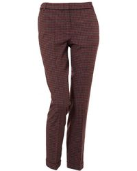 I Blues - Pirata Small Check Red Trousers - Lyst
