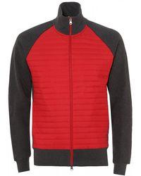 Colmar - Padded Sporty Sweatshirt, Red Grey Cotton Sweat - Lyst