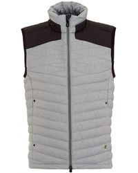 BOSS Athleisure - Vaboko Gilet, Grey Two Tone Quilted Jacket - Lyst