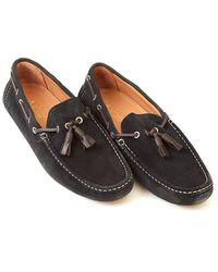 Armani Jeans - Driving Shoes Tassel Navy Suede Shoe - Lyst
