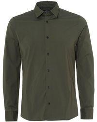 A.P.C. Andre Stretch Shirt, Military Khaki Green Shirt