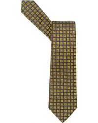 Armani - Tie, Small Squares Silk Lime Green Tie - Lyst