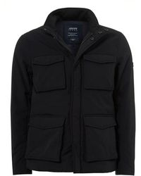 Armani - Field Four Pocket Water Repellent Navy Jacket - Lyst