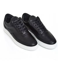 Filling Pieces - Nardo Low Top Trainers, Black Nappa Leather Sneakers - Lyst