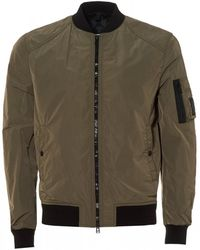 Belstaff - Mallison Bomber Jacket, Humid Green Micro Poly Bomber - Lyst