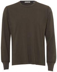 Our Legacy - Half Raglan Jersey, Crew Neck Dark Olive Sweatshirt - Lyst