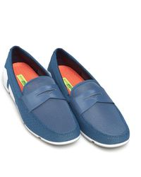 Swims - Breeze Penny Loafer, Slate Blue White Grey Shoes - Lyst