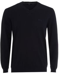 BOSS Black | Fillpp-o Jumper, Navy Blue Jumper | Lyst