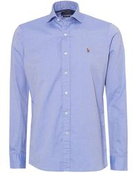 Ralph Lauren - Luxury Oxford Slim Fit Blue Shirt - Lyst