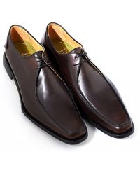 1ead622d487 Oliver Sweeney - Napoli Apron Front Dark Brown Leather Derby Shoes - Lyst