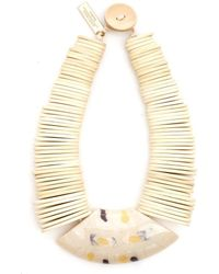 Weekend by Maxmara - Gamma White Wooden Necklace - Lyst